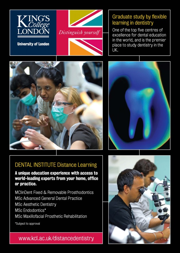 Study for an MSc dental qualification from the comfort of your own home or practice. King's College London offers distance/blended learning postgraduate degrees