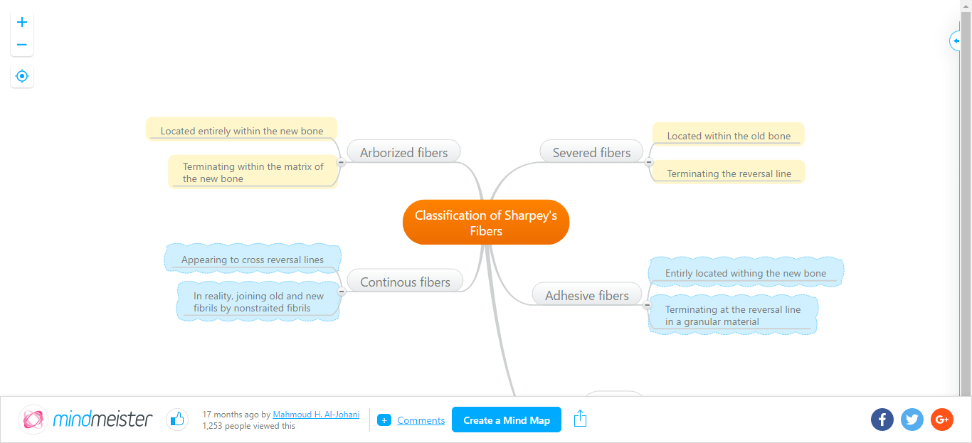 MindMap  Classification of Sharpeys Fibers001