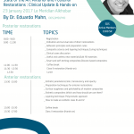 State of the Art Anterior and Posterior Restorations : Clinical Update & Hands-on