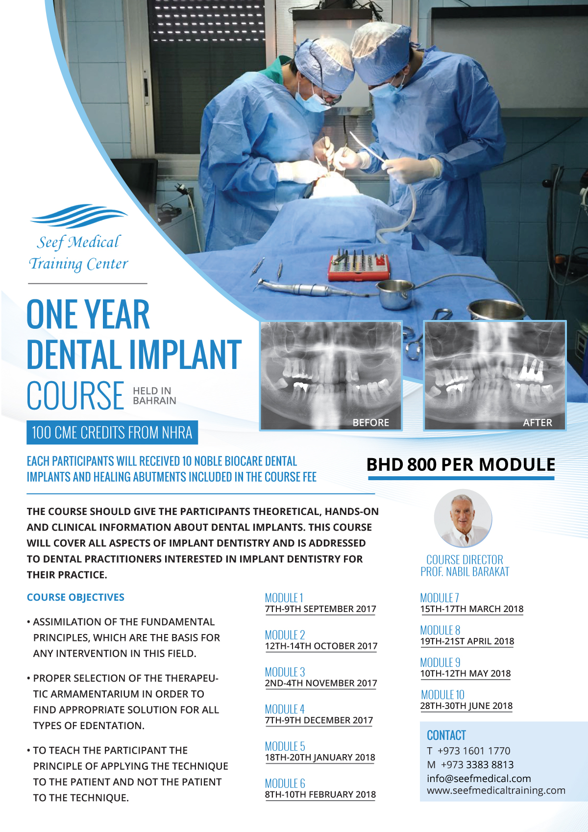 A One Year Program in Dental Implants